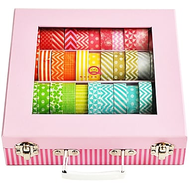 Queen & Co Tape Trunk Storage Case Pink
