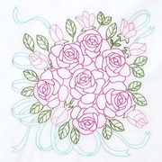 Jack Dempsey Stamp 18 x 18 inch, Rose Bouquet