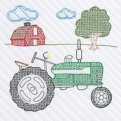 Jack Dempsey Stamp 18 x 18 inch, Tractor