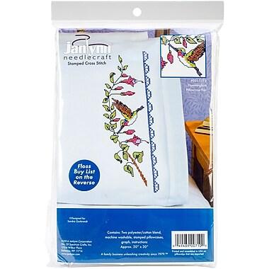 Janlynn Pillowcase Pair Stamped Cross Stitch 20 x 30 inch Hummingbird