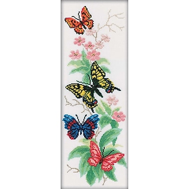 RTO Butterflies and Flowers Counted Cross Stitch Kit 6.25 x 17.75 inch