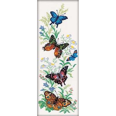RTO 14 Count Flying Butterflies Counted Cross Stitch Kit