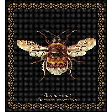 Thea Gouverneur Bumble Bee On Aida Counted Cross Stitch Kit 8.25 x 8 inch