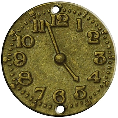 FabScraps Clock Face Brass Embellishment 1.25 x 1.25 inch