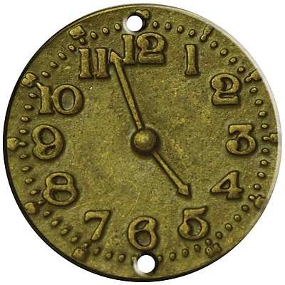 FabScraps Clock Face Brass Embellishment 1.25 x 1.25 inch