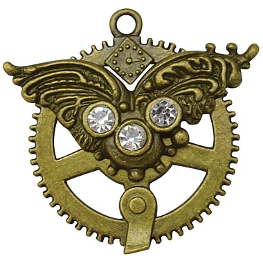 FabScraps Imported Embellishments Brass, Steampunk Filigree Cog