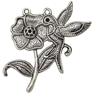 FabScraps Embellishments Silver, Bird & Rose