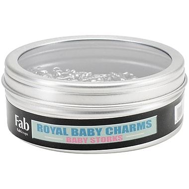 FabScraps Embellishments Silver, Baby Stork