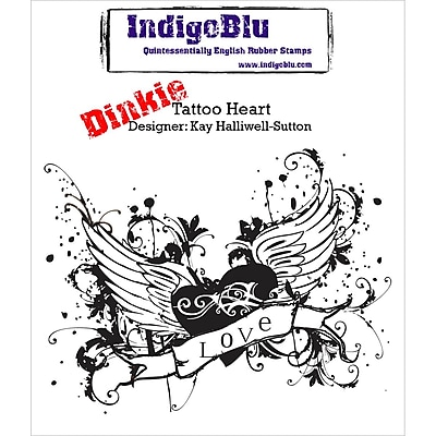 IndigoBlu Cling Mounted Stamp Tattoo Heart