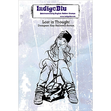 IndigoBlu Cling Mounted Stamp Lost In Thought