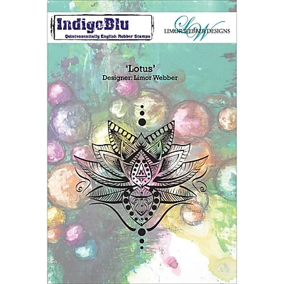 IndigoBlu Cling Mounted Stamp Lotus