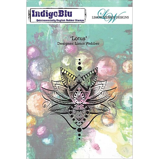 IndigoBlu Cling Mounted Stamp Lotus