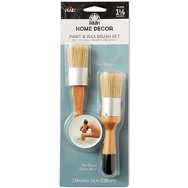 FolkArt Paint & Wax Brush Set