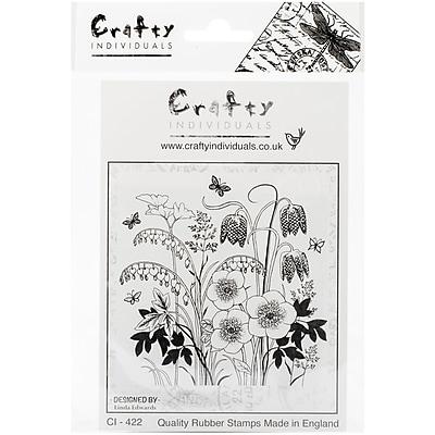 Crafty Individuals Stamp, Spring Flower Garden
