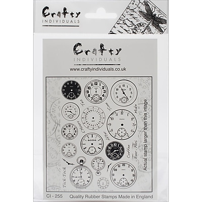 Crafty Individuals Stamp, Tick Tock Clock Faces