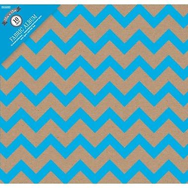 Colorbok Post Bound Album 12 x 12 inch, Kraft Chevron Blue