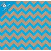 Colorbok Post Bound Album 12 x 12 inch, Kraft Chevron Blue