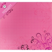 Colorbok Post Bound Album 12 x 12 inch, Pink Butterflies