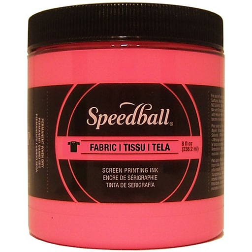 Speedball Art Products Fabric Screen Printing Ink Fluorescent, Hot Pink