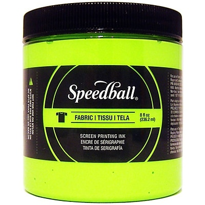 Speedball Art Products Fabric Screen Printing Ink Fluorescent, Lime Green