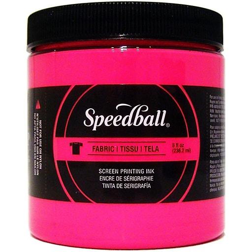 Speedball Art Products Fabric Screen Printing Ink Fluorescent, Magenta