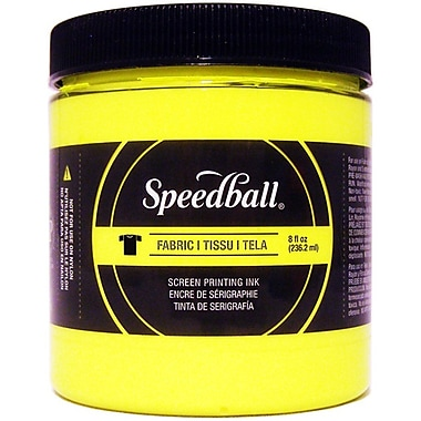 Speedball Art Products Fabric Screen Printing Ink Fluorescent, Yellow