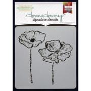 Donna Downey Stencils Signature Stencils, Anemone Duo