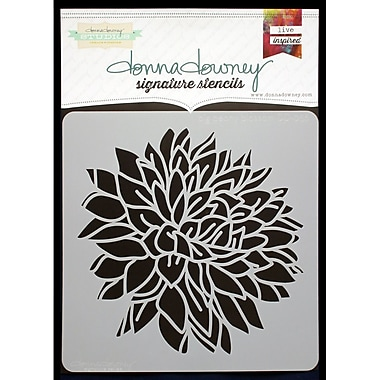 Donna Downey Stencils Signature Stencils, Big Peony Blossom