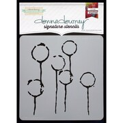 Donna Downey Stencils Signature Stencils, Dandelion Pods