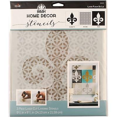 FolkArt Home Decor Masking Stencils, Fleur De Lis