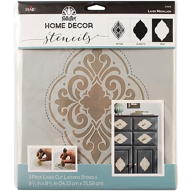 FolkArt Home Decor Masking Stencils, Medallion