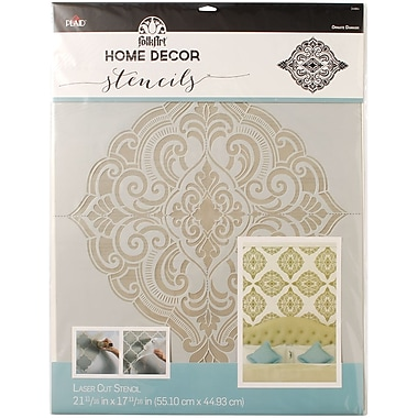 FolkArt Home Decor Wall Stencil, Ornate Damask