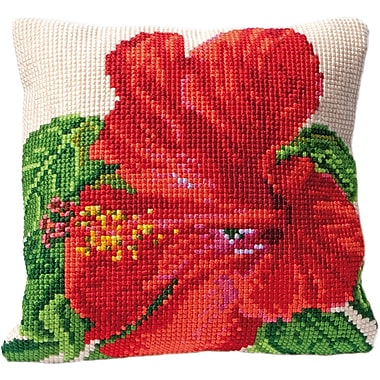 Thea Gouverneur Hibiscus Cushion Tapestry Kit