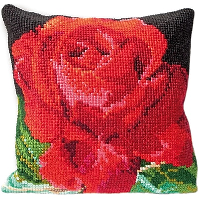 Thea Gouverneur Rose Cushion Tapesty Kit 15.75 x 15.75 inch