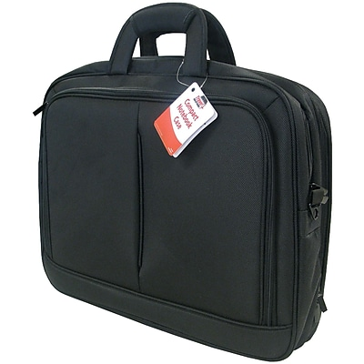 """Travel Solution Black Polyester Fabric Top-Loading 15.4"""" Notebook Bag"""