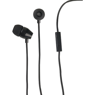 RCA In-Ear Earbud With Microphone, Black