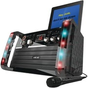 Akai CD+G Karaoke Player with iPad/iPod Cradle and Light Effect, Black (KS-213)