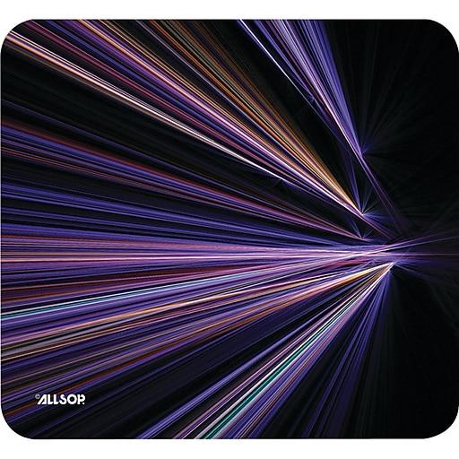 Allsop® NatureSmart Mouse Pad, Tech Purple Stripes