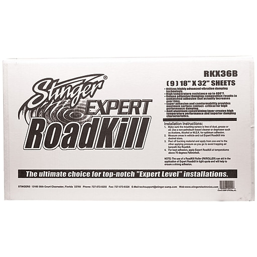 Stinger RoadKill® 9-Pieces 36 Sq ft. Expert Sound Damping Material Bulk Pack