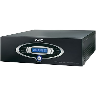 APC® J-Type 12-Outlet Power Line Conditioner With Battery Backup, 1500 VA, Black