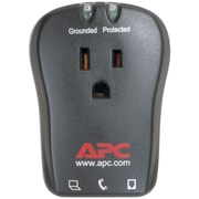 APC® SurgeArrest Essential Travel Surge Protector With Phone Line Protection, 1-Outlet, Charcoal