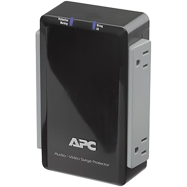 APC Audio/Video Surge Protector With Coax Protection, 4-Outlet, Black (APNP4V)