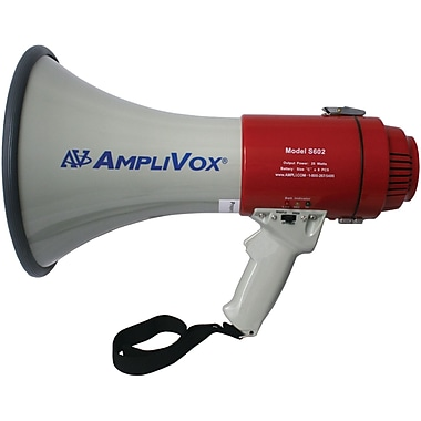 AmpliVox Sound Systems® S602R Mity-Meg Rechargeable Megaphone, 25 W
