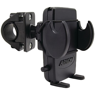 Arkon Bike/Motorcycle Handlebar Mount With Bungee Secure Strap For iPhone 5s/5c/4S/4, Black 1592253