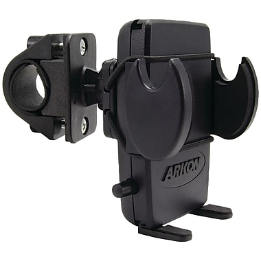 Arkon® Bike/Motorcycle Handlebar Mount With Bungee Secure Strap For iPhone 5s/5c/4S/4, Black