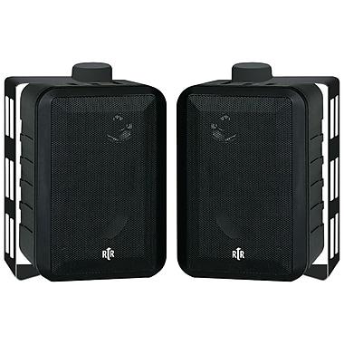 BIC America – Haut-parleur de 4 po à 3 voies pour l'intérieur/l'extérieur, 100 W, noir (BICRTRV442)