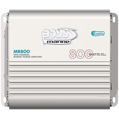 Boss® MR800 4 Channel Full-Range MOSFET Bridgeable Marine Class A/B Amplifier, 800 W