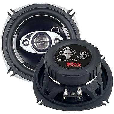 Boss – Haut-parleur à 4 voies à gamme étendue Phantom de 5 1/4 po, 300 W (BOSP554C)