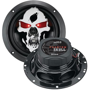 Boss – Haut-parleur à 3 voies à gamme étendue Phantom Skull de 6 1/2 po, 350 W, noir (BOSSK653)