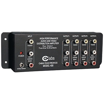 CE Labs® Prograde Composite A/V Distribution Amplifier With 1 Input/4 Output